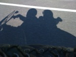 Our shadows could hardly keep up