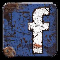 rustic metal facebook logo